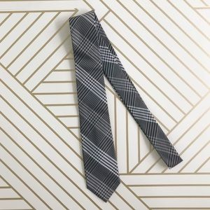{Ben Sherman} Black & gray SILK narrow necktie